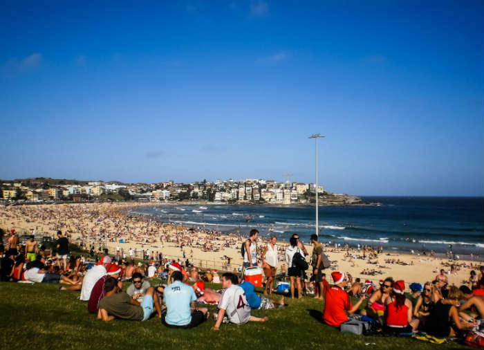christmas traditions-Christmas on Bondi Beach, Australia