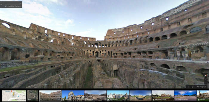 Colosseum on Google Maps
