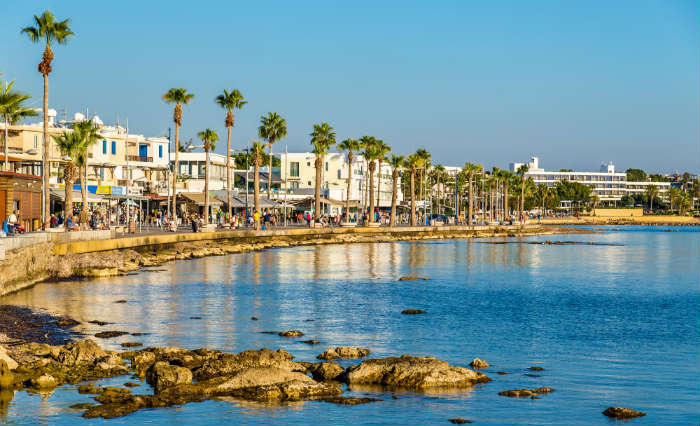 Beachfront in Paphos, Cyprus