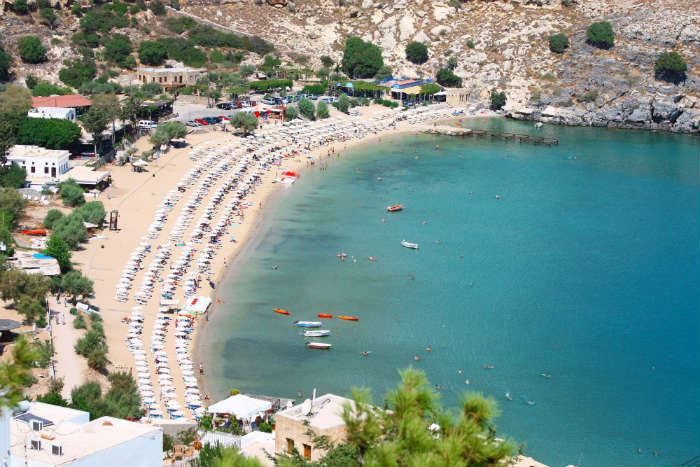 Lindos beach resort, Rhodes