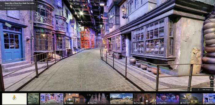 Diagon Alley on Google Maps
