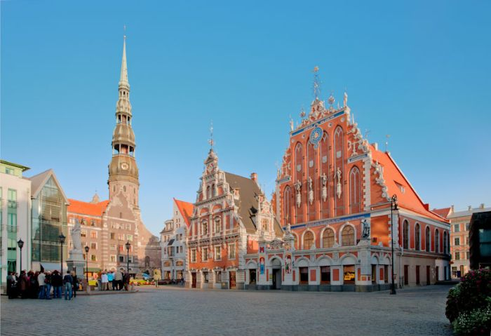 Old Town Square in Riga, Latvia