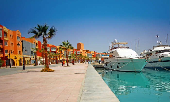 Marina in Hurghada, Egypt
