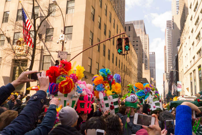 Easter celebrations in New York City at the 5th Avenue Parade