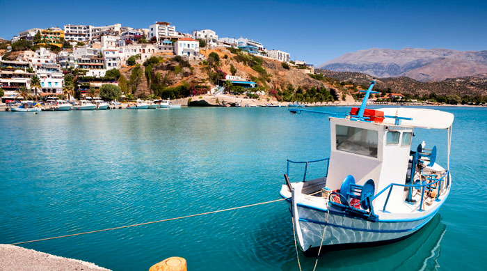 Bay in Crete town, Greece
