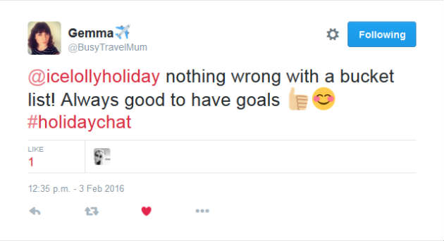 Gemma Holiday Chat Tweet