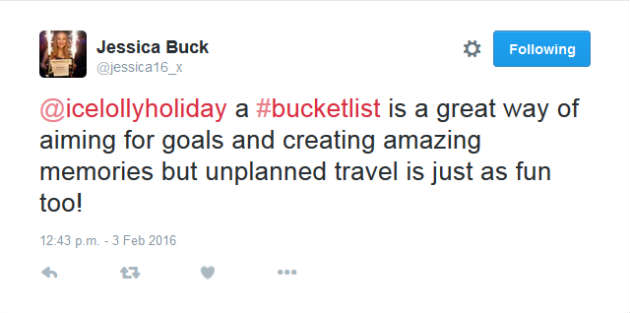 Jessica Buck Holiday Chat Tweet
