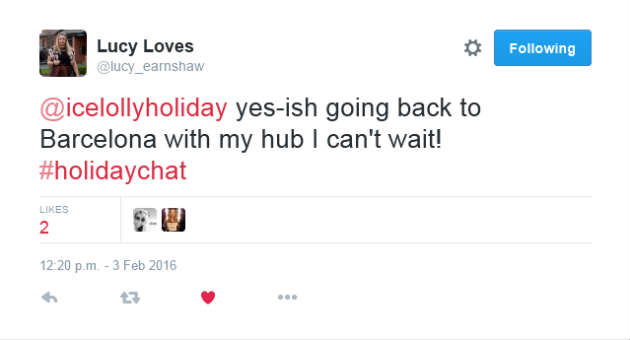 Lucy Loves Holiday Chat Tweet