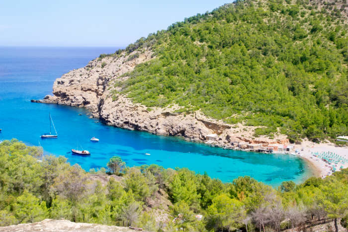Benirras Beach in Ibiza