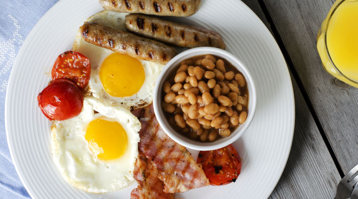 clubbing holiday survival-English breakfast