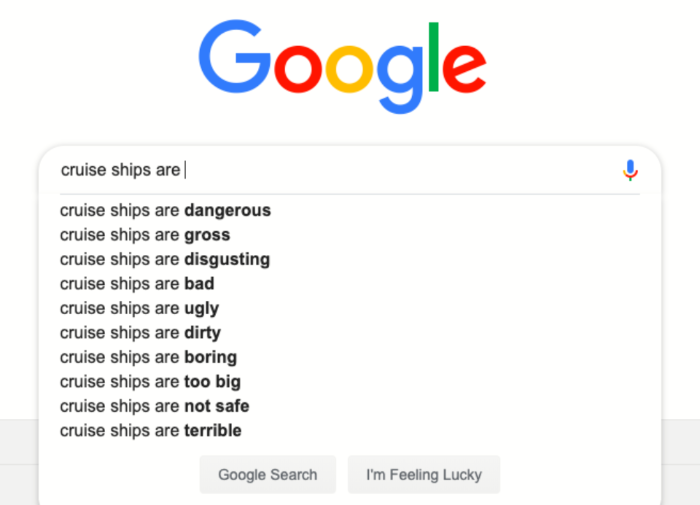 Google Search About Cruises