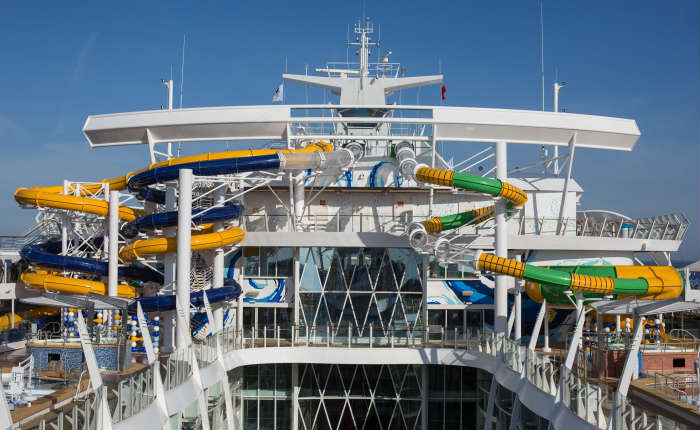 Harmony of the Seas Perfect Storm water slides