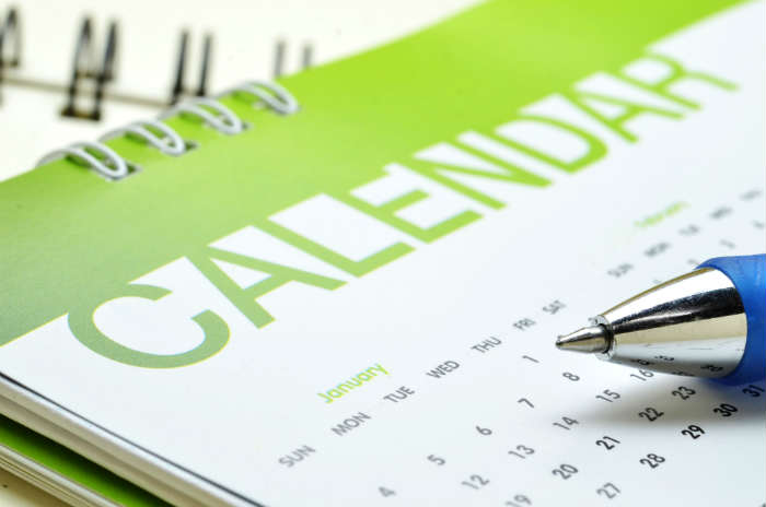 Booking you holiday calendar
