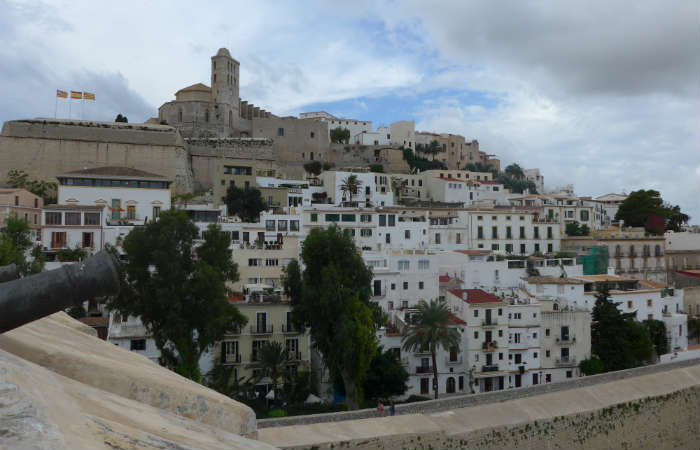 View of cathedral, Ibiza Old Town