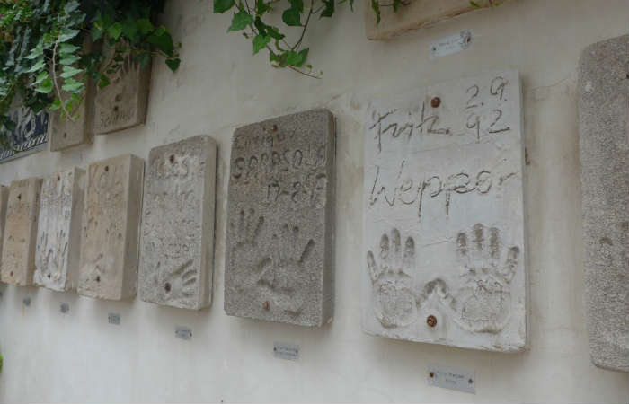 Celebrity handprints in Ibiza Old Town