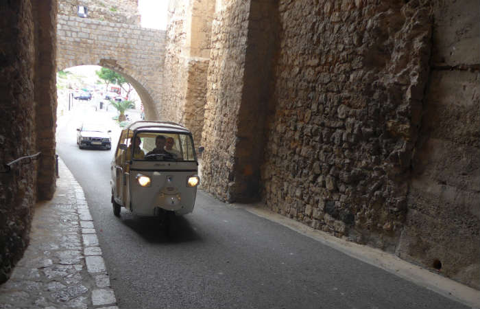 Rickshaw in Ibiza Old Town