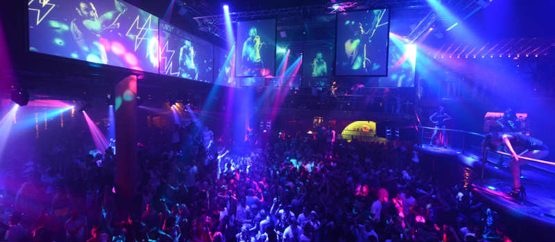 Ibiza club night at Amnesia