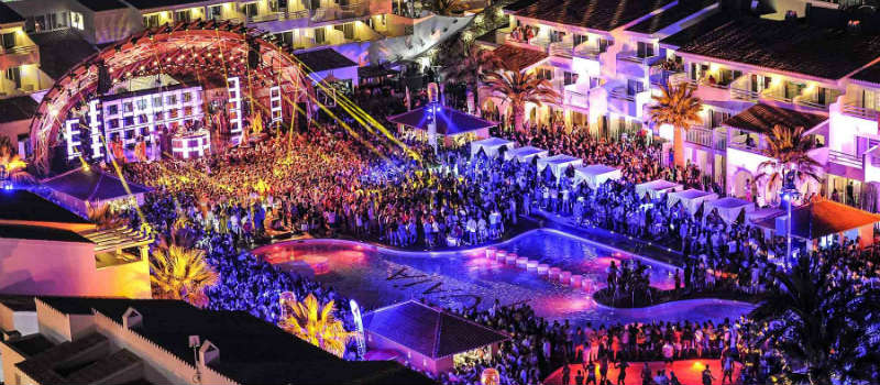 Ibiza club night at Ushuaia
