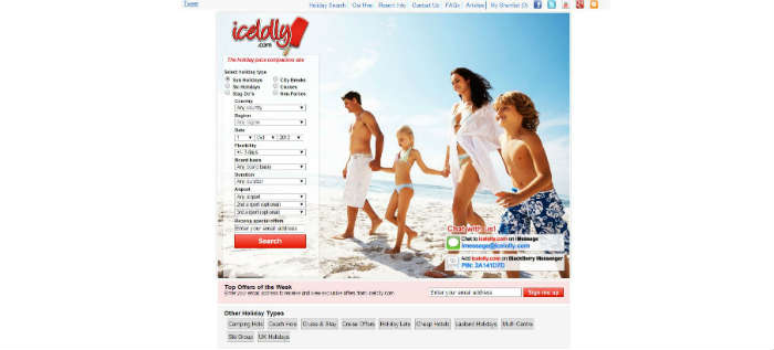 icelolly.com site in 2012