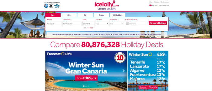 icelolly.com site in 2015