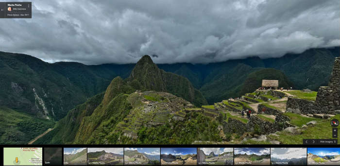 Machu Picchu on Google Maps