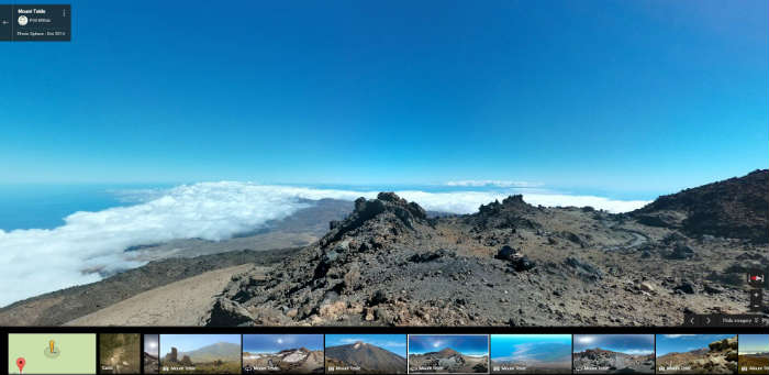 Mount Teide on Google Maps