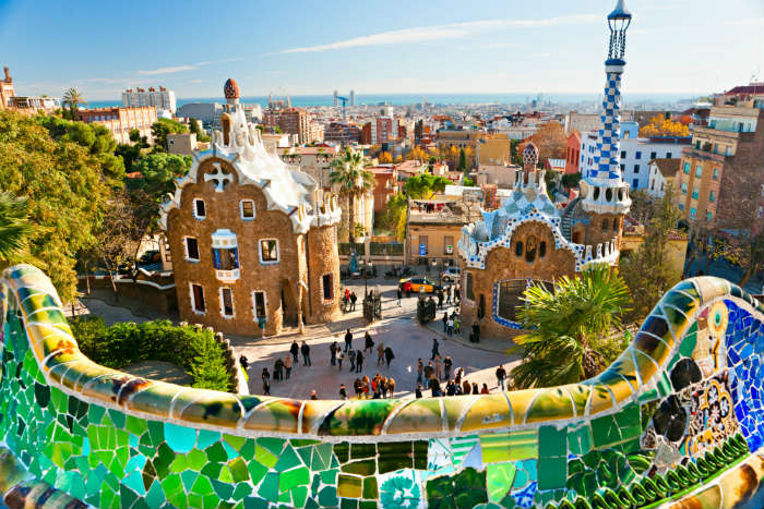 October half term ideas-Park Guell, Barcelona