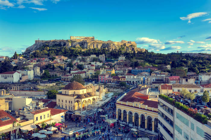 Photos of Greece-Athens birds eye view