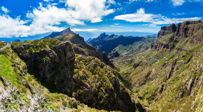 The mountains near Masca Village in Tenerife
