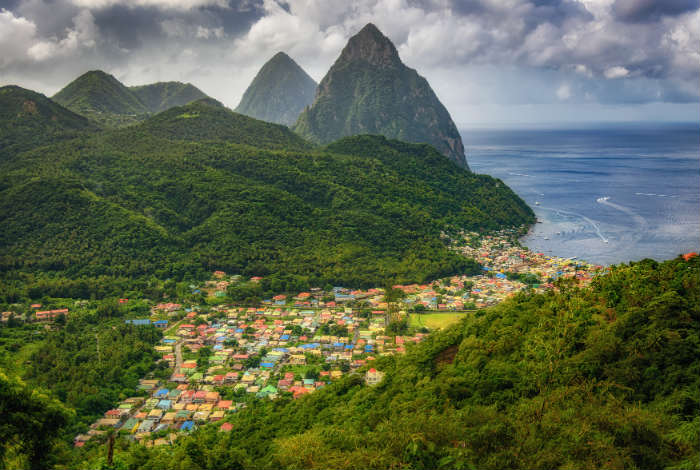 Soufriere and the Piton Mountains