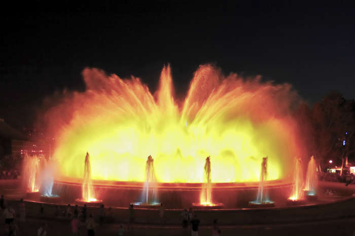 fountain of montjuic in Barcelona