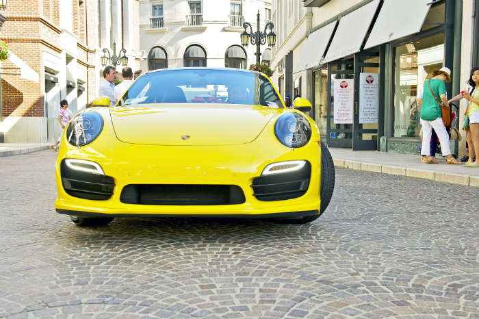Luxury Porsche car