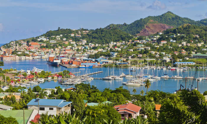 St George's harbour, Grenada