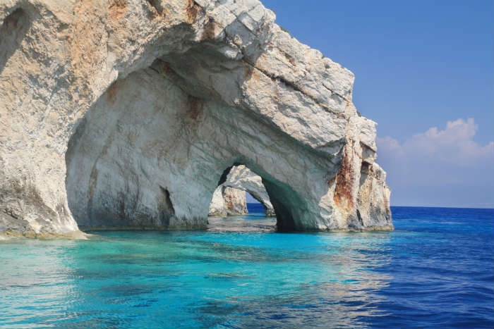 Blue Caves in Zante
