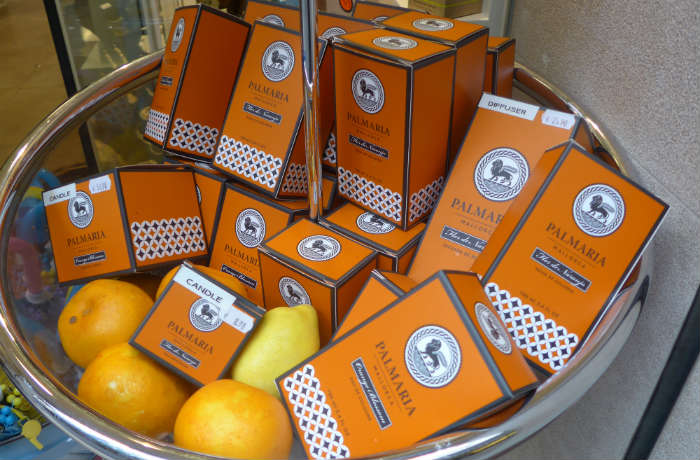 Orange cosmetics in Soller, Majorca