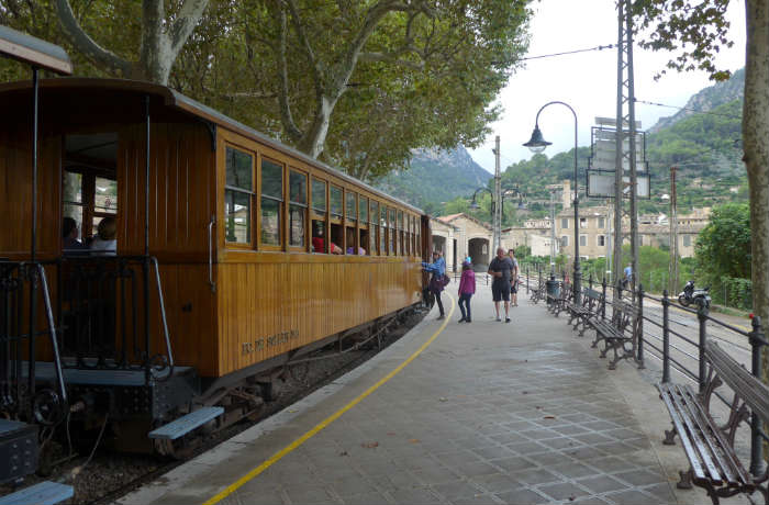 Soller vintage railway train, Majorca