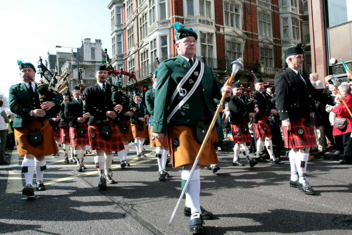 St Patrick's Day in London