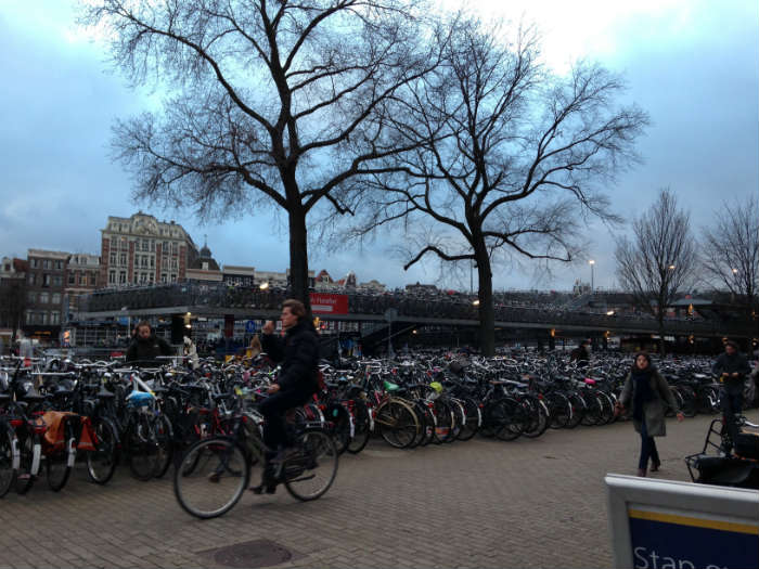 Travelling Amsterdam by bike