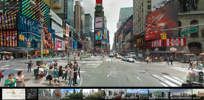Times Square on Google Maps