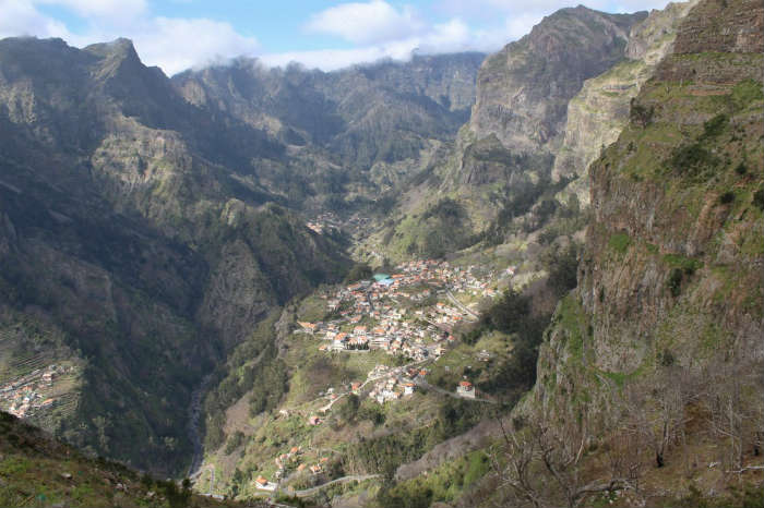 Nuns Valley in Madeira