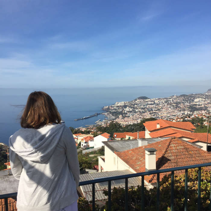 Looking over the rooftops of Madeira