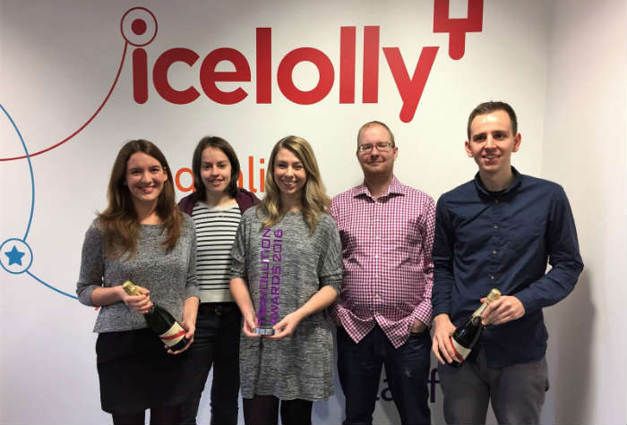 icelolly.com Travolution award team
