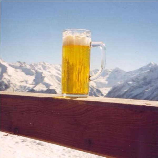 Beer on the ski slope