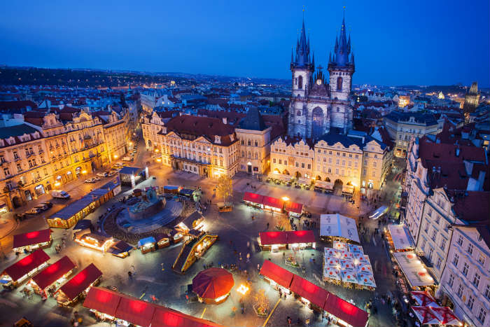 Christmas market in Prague