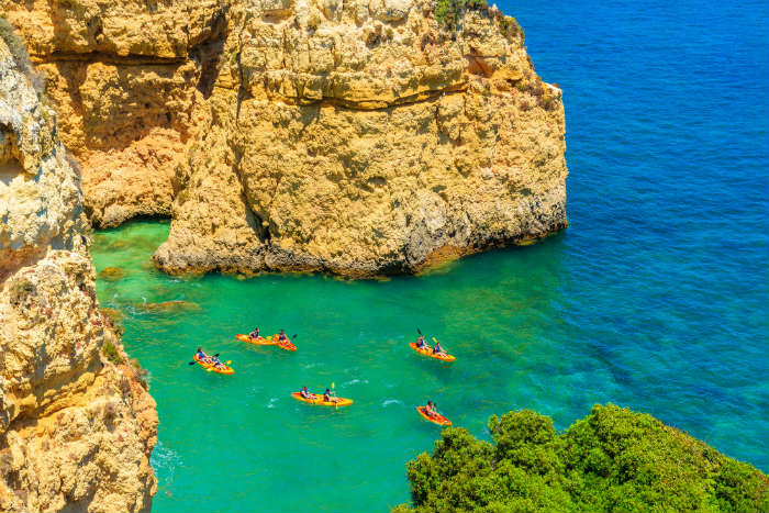 Sea Kayaking in the Algarve