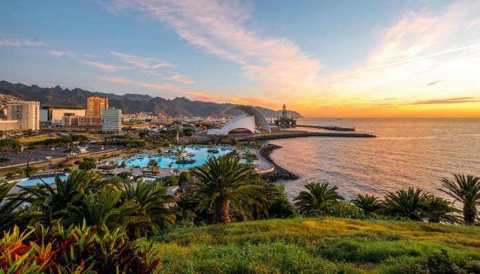 Where's Hot January - View of Santa Cruz resort, Tenerife