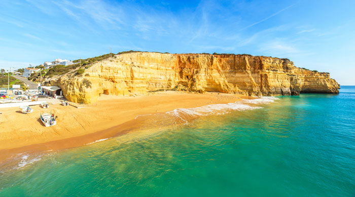 Where's Hot June - Albufeira beach in Algarve