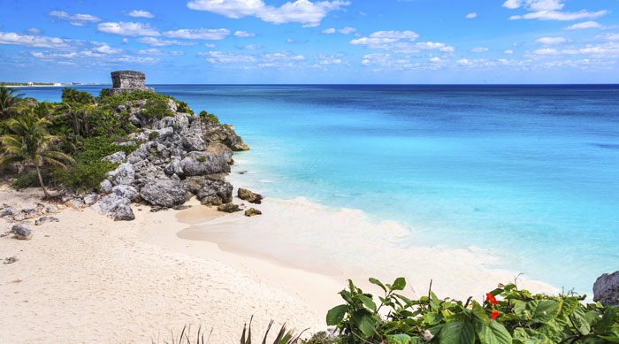 Where's Hot October - Beach in Tulum, Mexico
