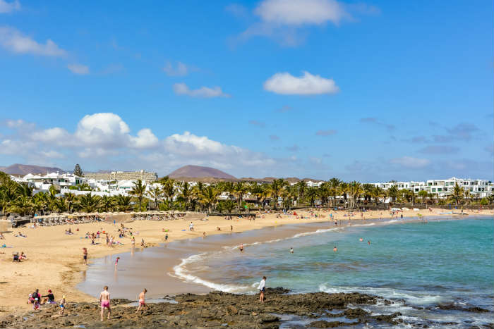 Beach in Costa Teguise, Lanzarote