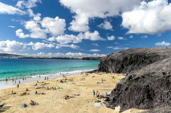 Papagoya beach near Playa Blanca, Lanzarote